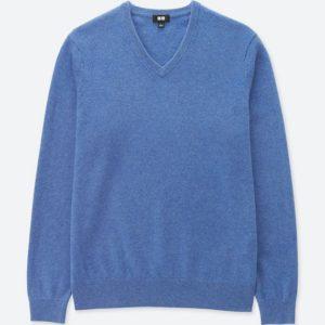 ユニクロ|カシミヤVネックセーター