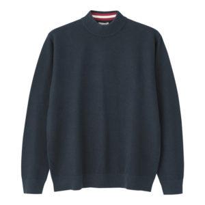 GU タックハイネックセーターの紺
